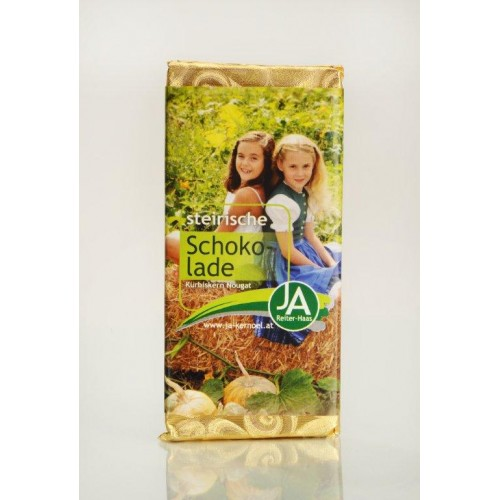 JA- Kürbiskern-Nougat Schokolade